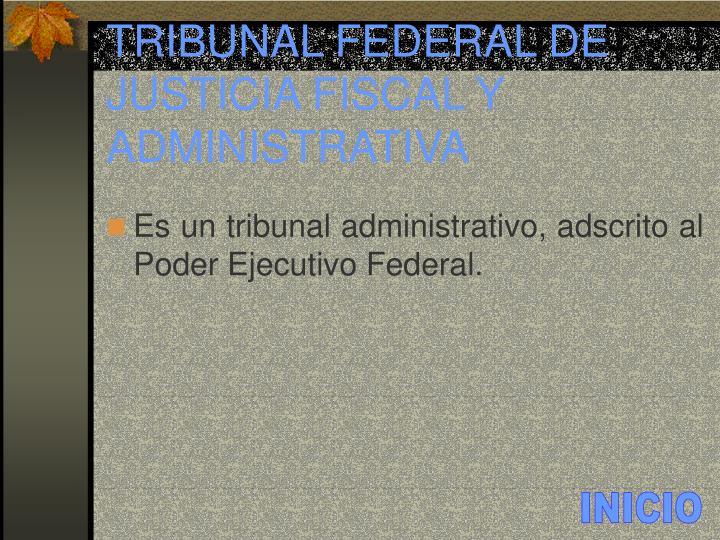 TRIBUNAL FEDERAL DE JUSTICIA FISCAL Y ADMINISTRATIVA