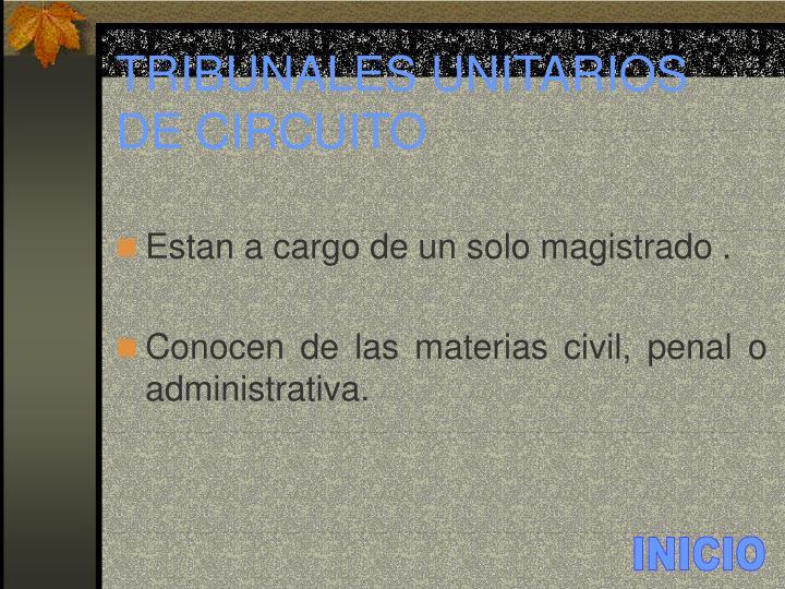 TRIBUNALES UNITARIOS DE CIRCUITO