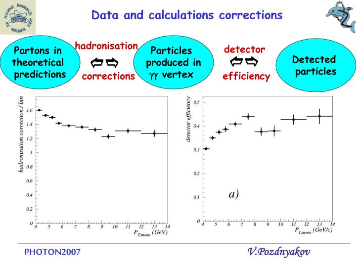 Data and calculations corrections