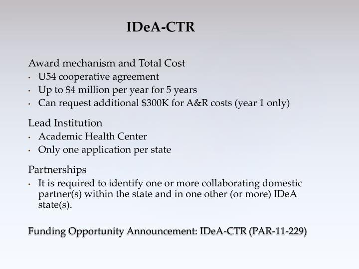 Award mechanism and Total Cost