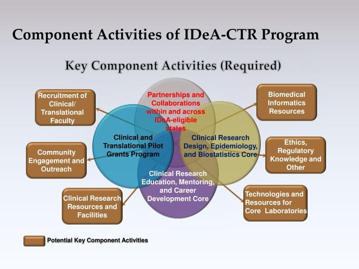 Component Activities of IDeA-CTR Program