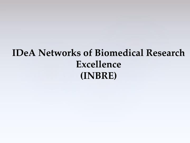 IDeA Networks of Biomedical Research Excellence