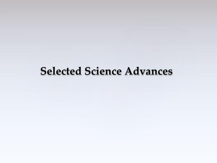 Selected Science Advances