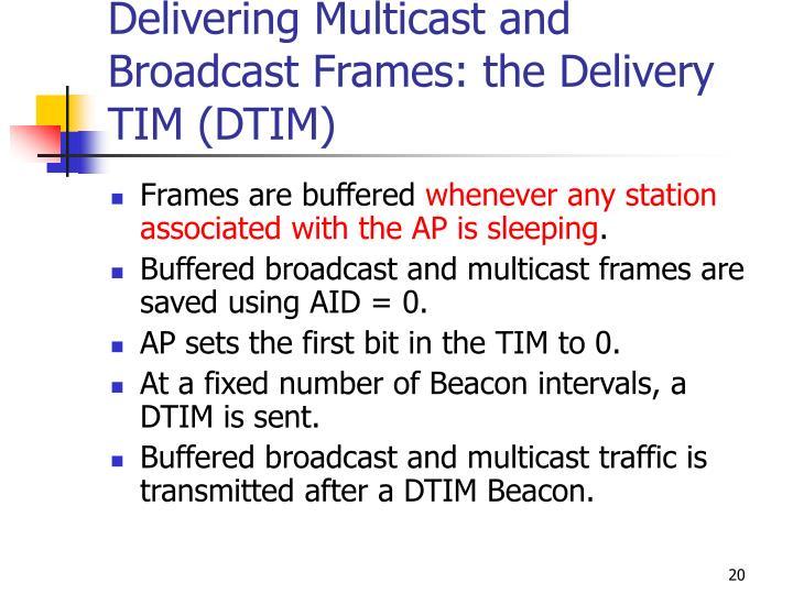 Delivering Multicast and Broadcast Frames: the Delivery TIM (DTIM)