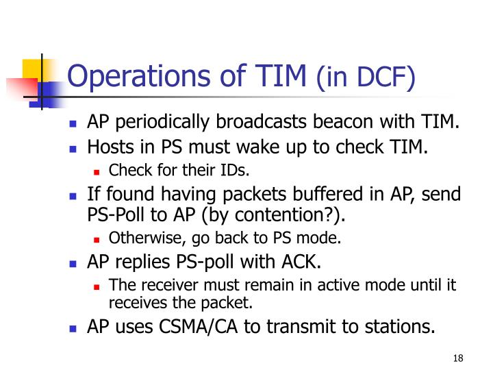 Operations of TIM