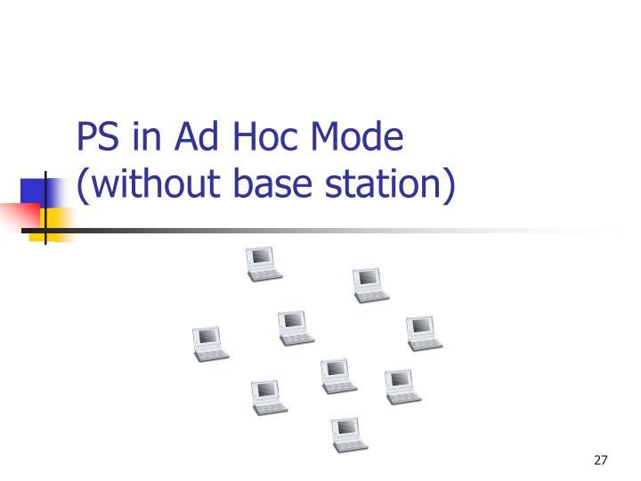 PS in Ad Hoc Mode