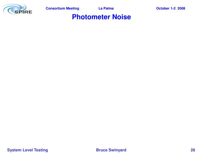Photometer Noise
