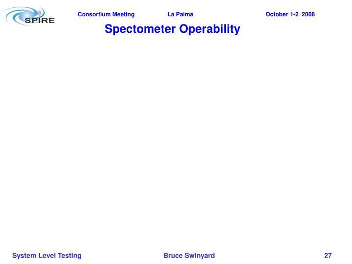 Spectometer Operability