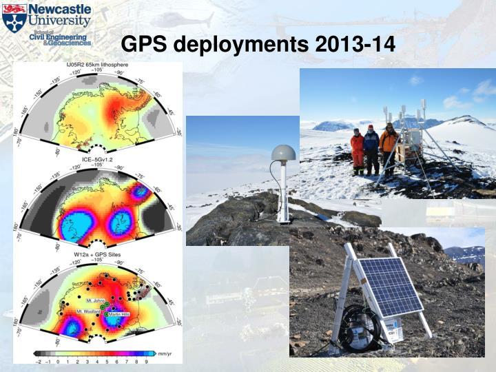 GPS deployments 2013-14