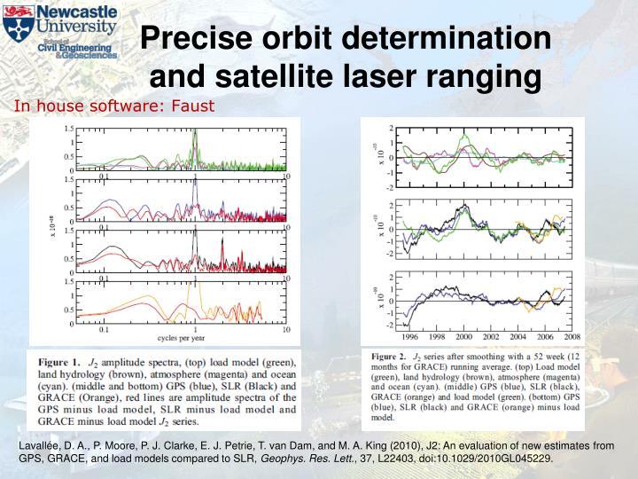 Precise orbit determination and satellite laser ranging