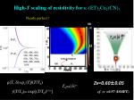 high t scaling of resistivity for k et 2 cu 2 cn 3