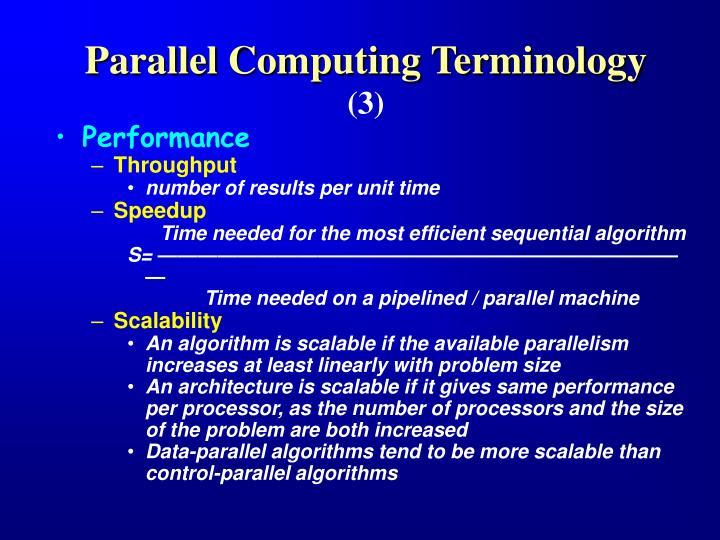 Parallel Computing Terminology