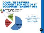 compute servers account for 63 of it equipment energy use