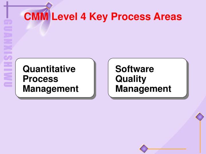 CMM Level 4 Key Process Areas