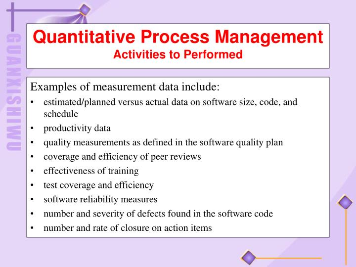 Examples of measurement data include: