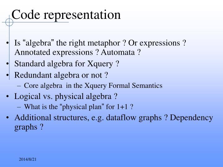 Code representation