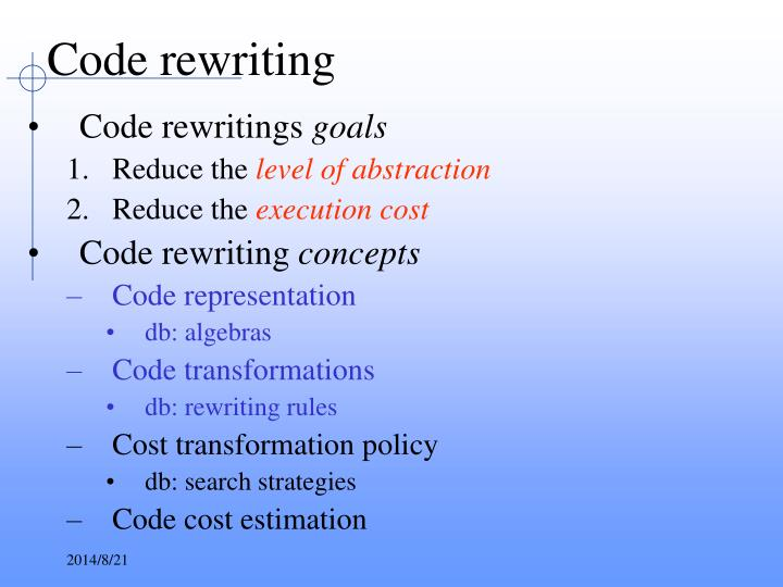 Code rewriting