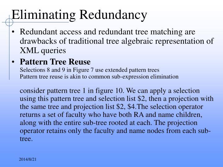 Eliminating Redundancy