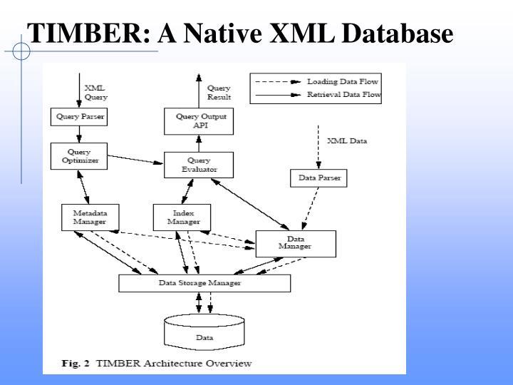 TIMBER: A Native XML Database