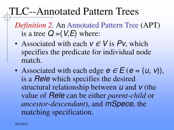 TLC--Annotated Pattern Trees