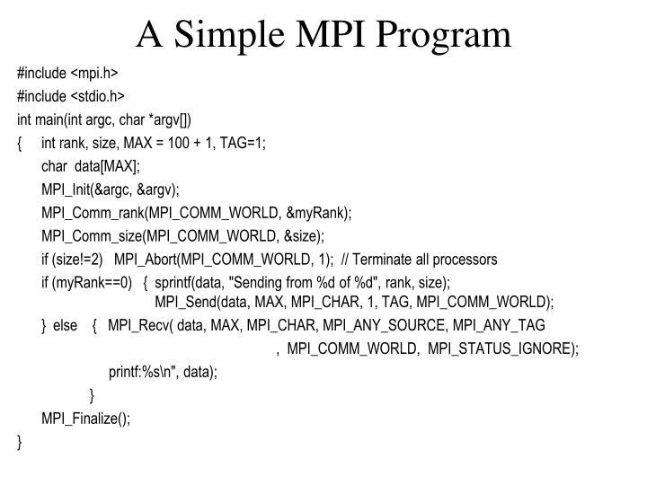 A Simple MPI Program