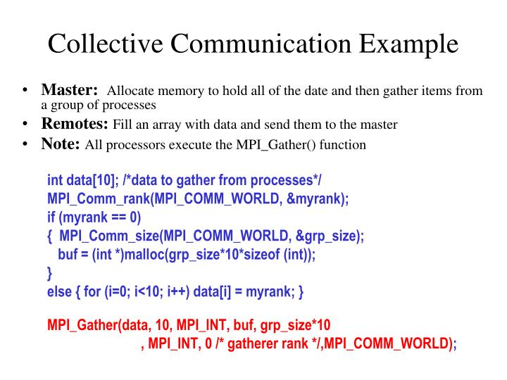 Collective Communication Example