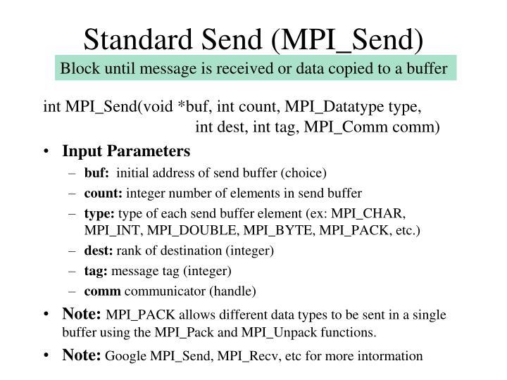 Standard Send (MPI_Send)