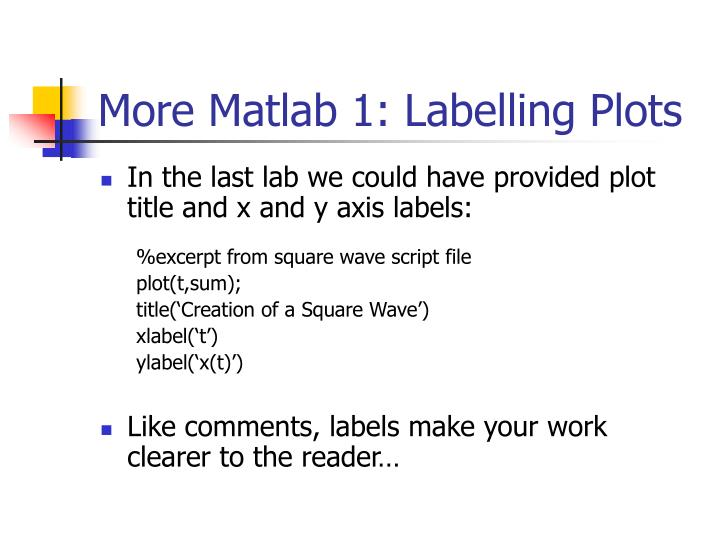 More matlab 1 labelling plots