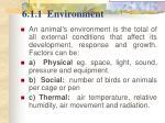 6 1 1 environment