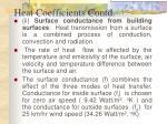 heat coefficients contd