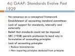 4c gaap standards evolve post 1929