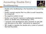 accounting double entry bookkeeping