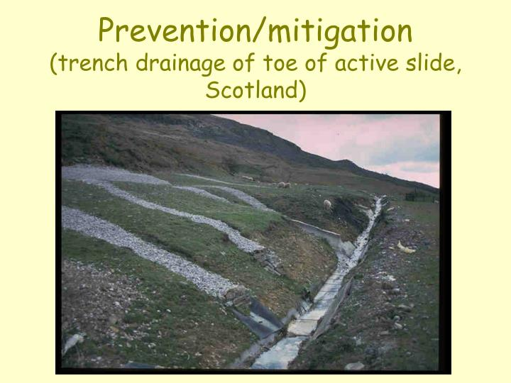 Prevention/mitigation