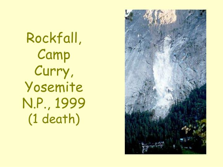 Rockfall, Camp Curry,