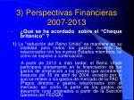 3 perspectivas financieras 2007 2013