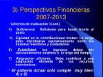 3 perspectivas financieras 2007 20133
