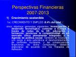 perspectivas financieras 2007 2013