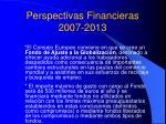 perspectivas financieras 2007 20132