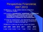 perspectivas financieras 2007 20137