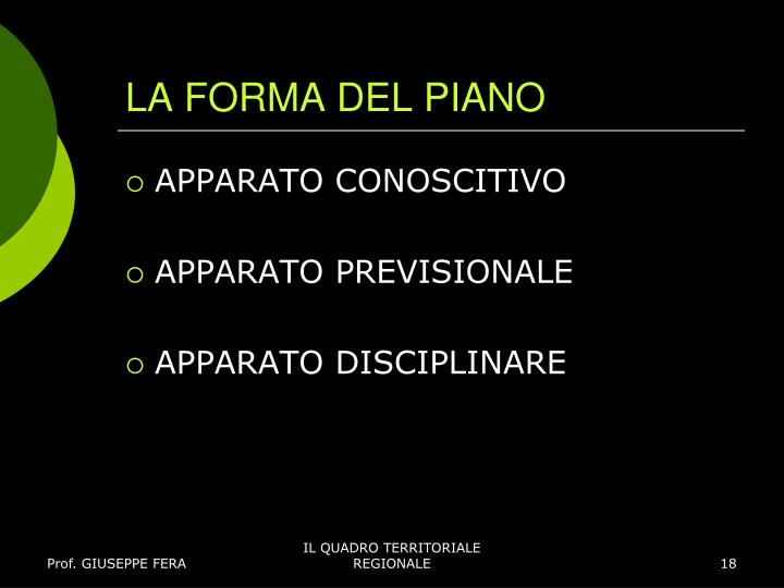 LA FORMA DEL PIANO