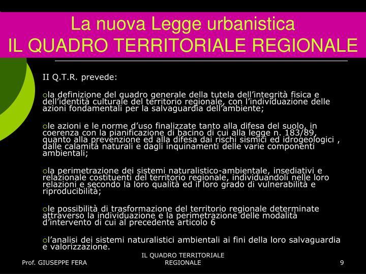 La nuova Legge urbanistica