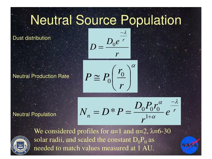 Neutral Source Population