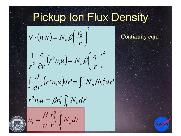 Pickup Ion Flux Density