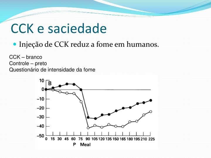 CCK e saciedade