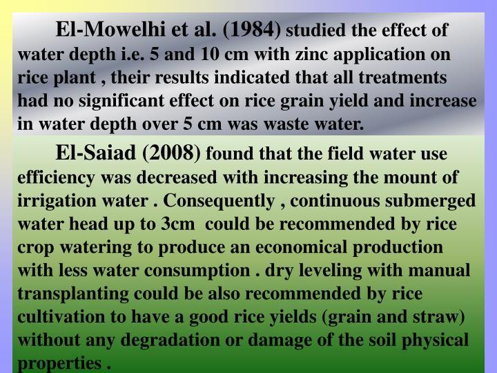 El-Mowelhi et al. (1984)