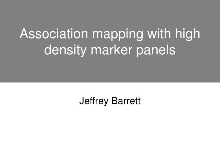 Association mapping with high density marker panels