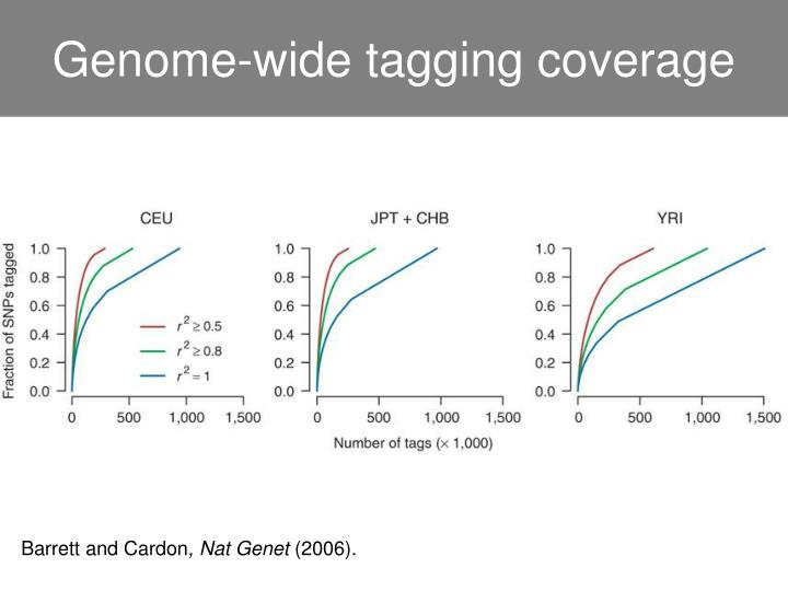 Genome-wide tagging coverage