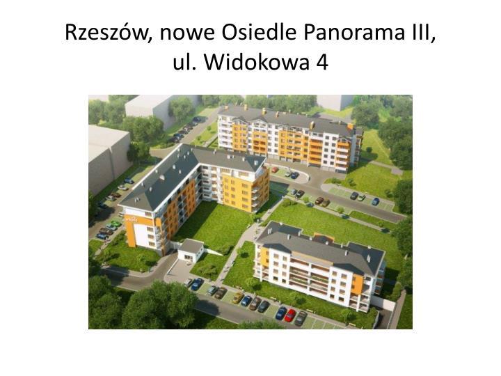 Rzeszów, nowe Osiedle Panorama III,