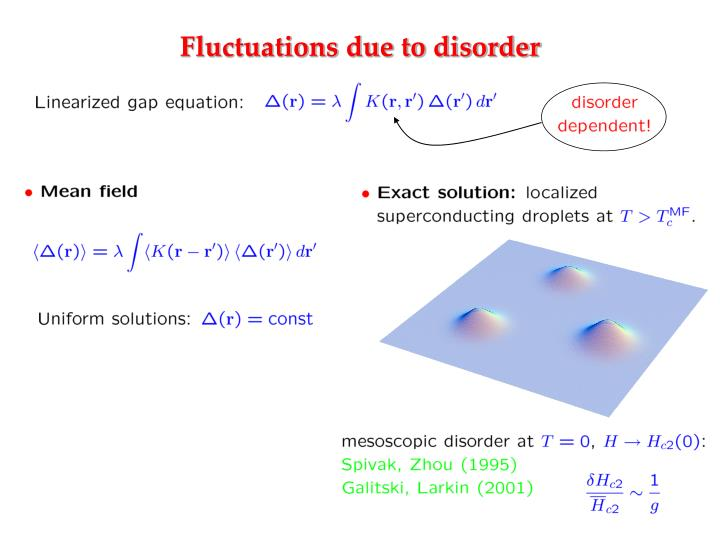 Fluctuations due to disorder