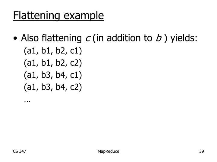 Flattening example
